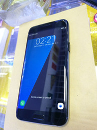 Wholesale Mobile Pink 3g - Free DHL S7 edge N7 Curved screen 5.5inch Android Cell Phones Real Quad core Real 3G LTE show 64GB Rom HDC Mobile Smart phone