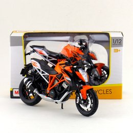 Wholesale Diecast Motorcycle Toy - Free Shipping Maisto 1:12 Motorcycle KTM 1290 Super Duke R Diecast Toy For Collection Exquisite Educational Gift Children
