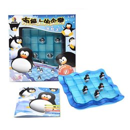 Wholesale Puzzles Tables - Wholesale-3D Puzzle Penguins Toys For Kids Gifts Child Learning & Education Table Game Chess Toy