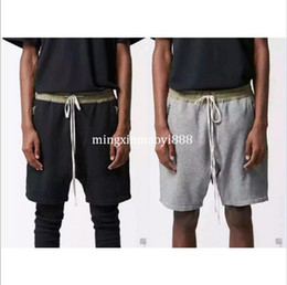 Wholesale Tall Clothing - New Hot black grey big and tall kanye urban clothing Shorts joggers justin bieber fog zipper harem pants summer fear of god