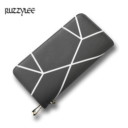 Wholesale Interior Design Pink - New Wallet Woman Long Hasp Coin Purse Women Luxury Leather Female Wallets Striped Design Brand Lady Purses Clutch Card Holder