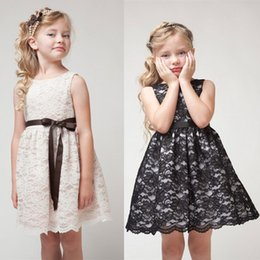 Wholesale Dress Tutu Baby Lace Black - Girls sleeveless dress high-quality princess hollow lace skirt summer Ball Gown baby clothes Kids Clothing 888
