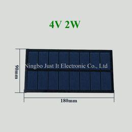 Wholesale Solar Cells 2w - 30pcs lot Epoxy Resin Small Solar Cell 4V 500mA 2W 180*90mm