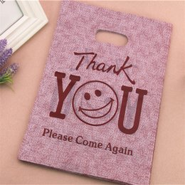 Wholesale Plastic Gift Bag 25 35cm - Wholesale-2016 New Design Wholesale 100pcs lot 25*35cm Large Plastic Thank You Gift Packaging Bags Shopping Bags With Handles