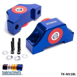 Wholesale Engine Civic - TANSKY - For Honda Civic EG EK JDM Engine Billet Motor Torque Mount Kit B16 B18 B20 D16 D15 TK-M11RD