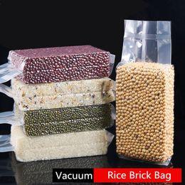 2019 aufstehen beutel 8x5x25cm Stand Up Vacuum Food Saver Lagerung Verpackung Klare Plastiktüten Snacks Trockenfrüchte Bohnen Reis Tee Paket Heißsiegel Aufbewahrungstasche rabatt aufstehen beutel