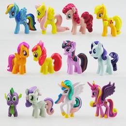Wholesale Magic Cute - Model My Pony Friendship Is Magic Action Toy Figures Hobbies Unicorn Horse Cartoon Models Cute Mini Cake Doll 11 68sa H1