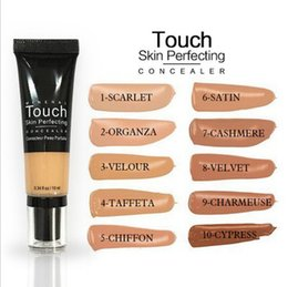 Wholesale Perfect Full - Unique liquid concealer touch eclat Mineral touch skin perfecting concelaer Moisturizer BB Creams Concealer CC Cream Makeup 10 colors hig