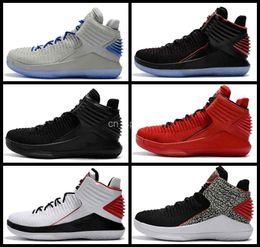 Wholesale Corsa Black - 2017 New Retro 32 XXXII Flights Speed Mens Basketball Shoes Cheap Black Sneakers Rosso Corsa MJ Day Retros Basket Ball Sports Shoes 7-12
