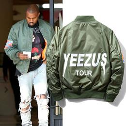 Wholesale Green Parkas For Men - Hot Sale KANYE WEST YEEZUS MA1 Jacket Bomber Jacket Pilot Jackets For Men Hip Hop Sport Suit Parkas Winter Windbreak Jacket Women jackets