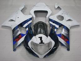 Wholesale Gsxr K2 - Fairing Kits GSX-R1000 2001 Plastic Fairings GSXR 600 750 1000 2003 Body Kits for Suzuki GSXR750 2002 2000 - 2003 K1 K2