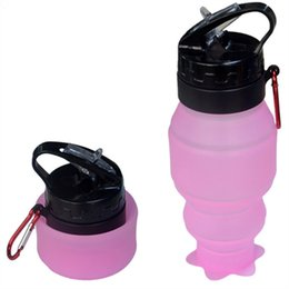 Wholesale Running Adventure - Foldable Water Bottles, Flexible Collapsible 530ML Reusable Water Bottles for Hiking,Adventures, Traveling Yoga Crossfit Running Camping