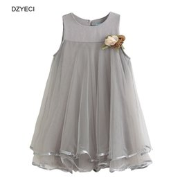 Wholesale Party Frocks For Baby Girls - Fashion Floral Lace Dresses For Baby Girl Costume Clothes Summer Children Sleeveless Flower Party Princess Dress Kid Frock Costume