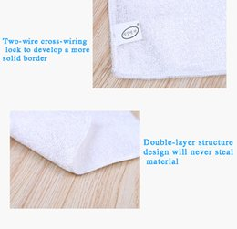 Wholesale Polyester Fiber Padding - Bamboo fiber wash towel 18 * 23 double-sided thick clean rags wonderful non-stick oil washing cloth cleaning towel