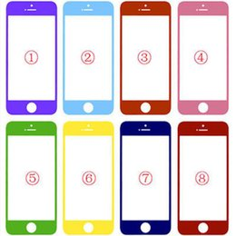 Wholesale Iphone 5c Glass Lens - Superb quality Colorful Front Outer Touch Screen Glass Lens Replacement for iPhone 5 5S 5C Free Shipping via DHL