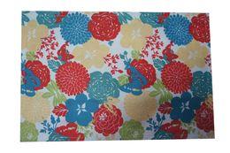 Wholesale Yarn Dyed Fabrics - wholesale retangular placemat 13*19 textile yarn dyed printing cotton poly fabric table mat dining mat slip pad muti colors