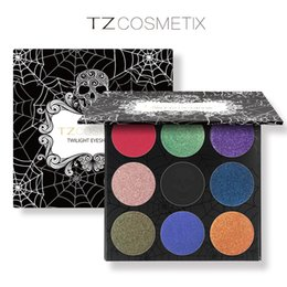 Wholesale Makeup New - New brand makeup palette TZ Cosmetix Twilight 9 Colors glitter Eyeshadow Palette Matte Shimmer Diamond Foiled Colors Brand palette eyeshadow