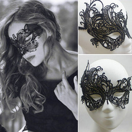 Wholesale Sexy Costume Mask - Eye Mask Sexy Lace Venetian Masquerade Ball Halloween Party Fancy Dress Costume 5R8O