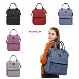 Wholesale Diaper Bags Fashion Handbags - Diaper Mommy Bags Nappies Maternity Backpacks Handbags Mother Fashion Backpack Outdoor Nursing Travel Bags Organizer 5 Colors OOA2506