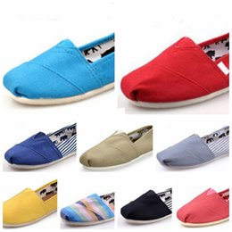 Wholesale Espadrille Men - Promotion Factory Price Multi Colors New Unisex Classic Fashion Flats Sneakers Women and Men Canvas Shoes loafers casual shoes Espadrilles