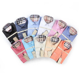 Wholesale Branded Dress Shirts - Wholesale- 2017 New Arrival Oxford Men's Brand Dress Shirts Men Non-Iron Solid Color Business Formal Shirt Classic Style Clothes For Men