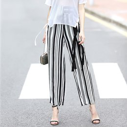 Wholesale Star Style Fashion Legging - 2017 new fashion star style, original design limited edition, summer women's fashion casual pants 9 points pants wide leg pants P17019