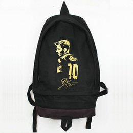 Wholesale World Interiors - Lionel Messi backpack World player daypack Great star schoolbag Football rucksack Sport school bag Outdoor day pack