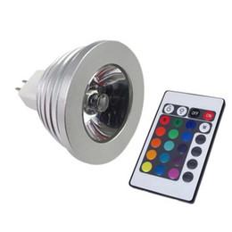 Canada Économie d'énergie 5W RGB GU10 E27 MR16 E14 LED Lampe Ampoule Spot 16 couleurs changeantes Fonction mémoire Spotlight + Télécommande IR Offre