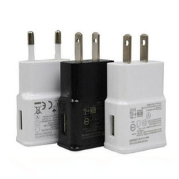 Wholesale Eu Phone Charger Adapter - USB Wall Charger 5V 2A AC Travel Home Charger Adapter US EU Plug for universal smartphone android phone White Black Color