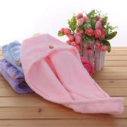 Wholesale Super Magic Towel - Shower Caps Water Uptake Magic Quick Dry Hats High Quality 7MM Super Villous Towel Bathing Turban Wrap Hat 5 5gy C R