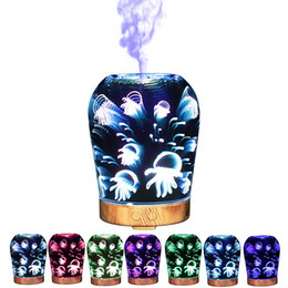 Wholesale Jellyfish Lighting - Jellyfish Pattern Humidifier Easy To Carry Car 3D Humidifiers Vase Shape Night Light Aroma Mist Diffuser Hot Sale 125zk B R
