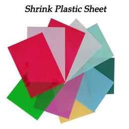 Wholesale Red Developments - magic paper 5pcs DIY Magic Shrink Plastic Sheet Paper Clear Film Red Yellow Blue Black Color Educational Toys Creative Ability Development