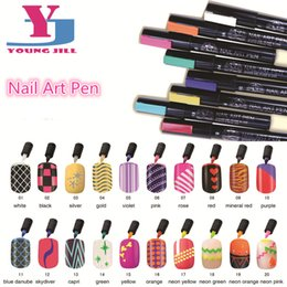 Wholesale Red Nail Art Design - Wholesale-New Fashion High Qualitity Nail Art Pen 16 Colors Women Beauty Nail Art Tools Painting Design For UV Gel Polish Manicure