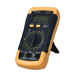 Wholesale Current Test - Wholesale- LCD Digital Multimeter Ammeter Voltmeter Ohmmeter Current Tester hFE Tester Date Hold Battery Test Diode Continuity Test Jan11
