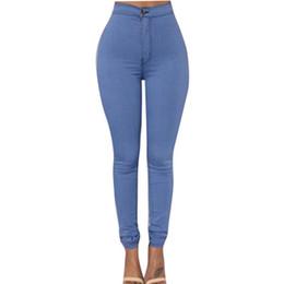 Wholesale Wholesale Plus Sizes Jeans - Wholesale- 2017 Women Fashion Denim Jeans New Multi Colors Girl Casual Autumn Solid Pencil Slim Skinny Jeans Plus Size