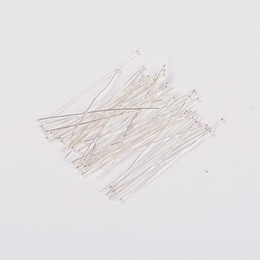 Wholesale Wholesale Silver Headpins - 100pcs Silver Platinum Plated Brass Ball Headpins for Most Unique Necklace Bracelet Necklace Earring DIY Making Design
