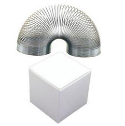 kazoo en plastique Promotion Métal Slinky Type Printemps Fidget Jouet Drôle Jouets Stress Relief Autisme Arc-en-Printemps Ressorts Vague OOA1410