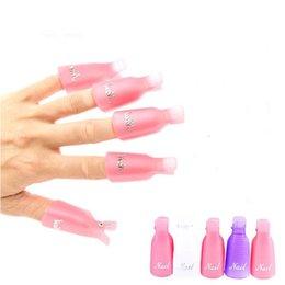 Wholesale Soakers Gel Off - 10 Pcs Lot Remover Gel Polish Nail Art Soakers UV Nail Polish Wrap Tool Nails Remover Soak Off Cap Clip Tools Random