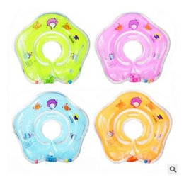 Wholesale Infant Swim Rings - Inflatable Baby Swim Neck Ring Swimming Accessories Baby Tube Ring Safety Infant Neck Float Circle for Bathing Toy DHL Free Shipping