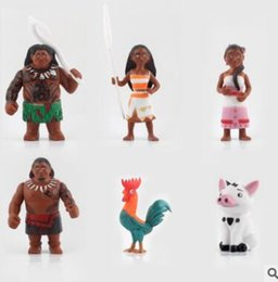 Wholesale Best Pvc Anime Model - Kid Toys New Cartoon Anime Movie PVC Moana Action Figure Set Collectible Model Toys For Kids Best Kids Toy 6pcs set Free Shipping