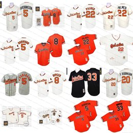 Wholesale 1970 Throwback Brooks Robinson cal ripken eddie murray jim palmer Authentic Jersey Men s Mitchell And Ness Baltimore Orioles