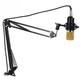 Wholesale Mic Holders - Double-braced steel Microphone Mic Stand Suspension Boom Scissor Arm Mount Shock Holder Studio Sound Broadcasting