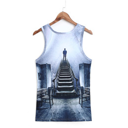 Wholesale Shirt Tattoo Sexy - Wholesale- Bodybuilding Clothing Men's Apparel Workout New Tank Top Men Muscle Walk Fashion Fitness Vest Shirt Tattoo