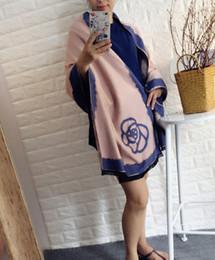 Wholesale Handmade Wool Blankets - New arrival Camellia Blanket wool Cashmere190x64cm 74.8x25.1in Blanket Brand Designer Home Blankets Sofa Winter Blankets Free shipping CB62