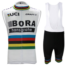 Wholesale Bike Bibs Vest - Bora Ropa ciclismo 2017 cycling clothes Vest sleeveless jersey bib shorts cycling clothing breathable outdoor mountain bike men hombre