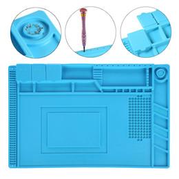 Wholesale Bga Repair - YVBOX 17.7 x 11.8 inch Magnetic Screws Repair Silicone Pad Heat Insulation Mat Maintenance Platform BGA Soldering Repair Station