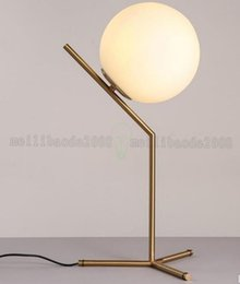 Wholesale Table Lamps Office Desk - NEW Brief Modern Decoration Table Lamp Art Glass Desk Lamp Living Room Bar Office Lamp Gold Finished Project MYY