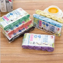Wholesale Trash Pack Wholesaler - 5rolls pack(20pcs roll) hotsale household cleaing tools good quality colorful thicken plastic kitchen trash bags garbage bags