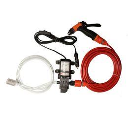 Wholesale Electric High Pressure Car Washer - Wholesale- 70W 130PSI 6L Min High Pressure Car Electric Washer Wash Pump DC 12V Clean Set