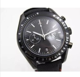 Wholesale Fabric Watches - Luxury Brand Ceramic The Dark Side Of The Moon Limited Style mens High Quality New Stopwatch Gents stainless stee Watches Wristwatch